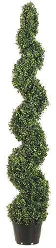 Allstate Floral & Craft Knock Down Pond Boxwood Spiral Topiary Plant, 5-Feet