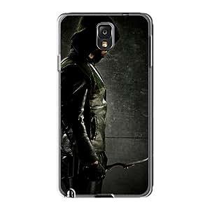 AshleySimms Samsung Galaxy Note 3 Anti-Scratch Cell-phone Hard Covers Provide Private Custom Beautiful Green Arrow Skin [TZd27650raYI]
