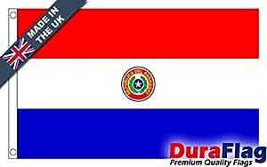 duraflag® Paraguay bandera de calidad profesional (puerta y Cambiadas), 0.75 Yard (68cm x 34cm)