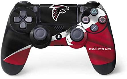 Skinit Decal Gaming Skin for PS4 Controller - Officially Licensed NFL Atlanta Falcons Design