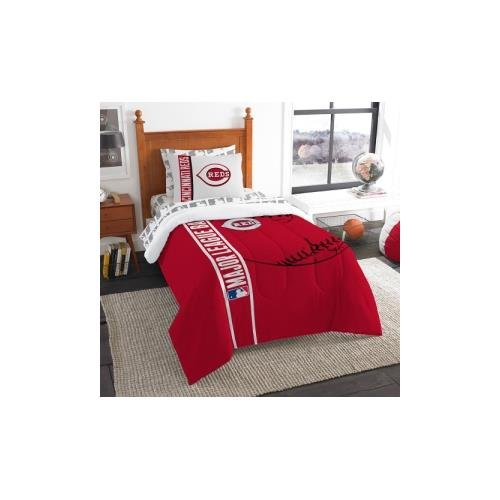 MLB Cincinnati Reds Soft & Cozy 5-Piece Twin Size Bed in a Bag Set