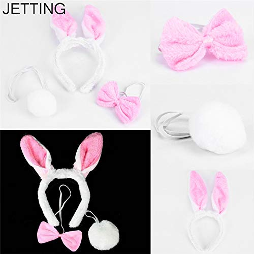 Happy Birthday Party Hat - Lovely Girls Rabbit Bunny Ears Headband Tail Necktie Birthday Party Costume Prop Halloween Christmas - Guard Tutu Unicorn Birthday Superheroes Ballons Lion Nieves -