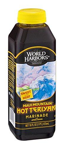 (World Harbors Maui Mountain Hot Teriyaki, 16-Ounce Bottles (1 Pack))