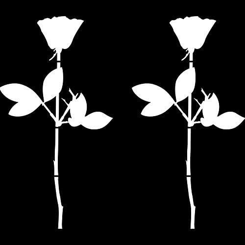 Greenit Rose 20cm Auto Fenster Spiegel Aufkleber Tattoo Die Cut Decals Vinyl Selbstklebende Deko Folie Depeche Mode 2 Stück Weiß Auto