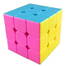 MoYu AoLong V2 3x3x3 Speed Cube Enhanced Edition Hgh Bright Stickerless - Pink by MoYu