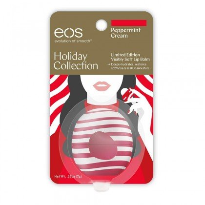 Eos Limited Edition Peppermint Cream Lip Balm Sphere   Holiday Collection 2017