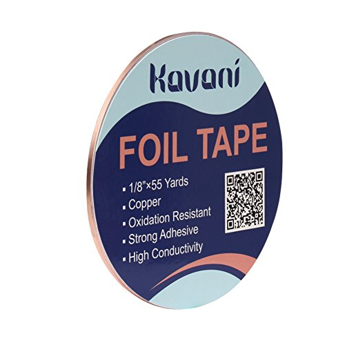 KAVANI Copper Foil Tape with Conductive Adhesive 1/8inch X 55yards