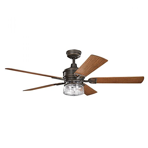 Olde Bronze Blades (Olde Bronze Lyndon Patio 60In. Outdoor Ceiling Fans With 5 Blades - Includes Light Kit And 4.5In. Downrod)