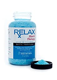 Muscle Therapy Bath Salts -19 Oz- Therapeutic Natural Vitamin Crystals for Soaking Aches, Pains, Swelling & Stress Relief for Whirlpool