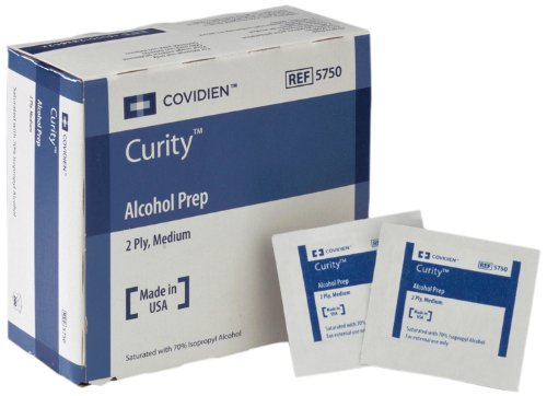 - Covidien Curity Alcohol Prep, Sterile, Medium 2-Ply, 200-Count (Pack of 20)