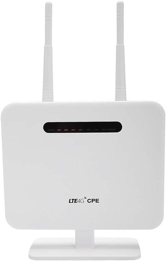Diyeeni WiFi Router DC5V 2A / USB 5V 2A 300Mbps transmisión de Datos sin pérdida 4G LTE WiFi Router, Repetidor WiFi de Modo Dual por ...