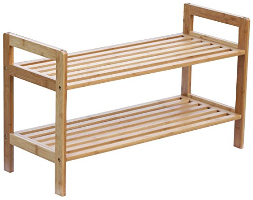 Oceanstar 2 Tier Bamboo Stackable Shoe product image