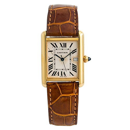 Cartier Tank Louis Cartier Quartz Male Watch W1529756 (Certified Pre-Owned)