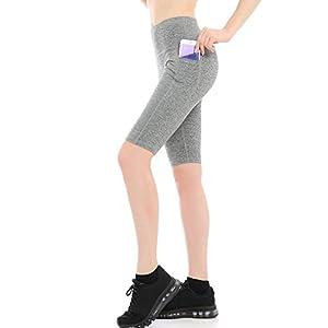 ABUSA Women's Cotton Activewear Workout Bike Yoga Shorts
