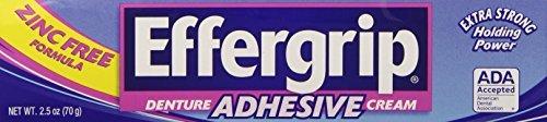 - Denture Cream, Effergrip, 2.5 Oz - 1 Ea by EMERSON HEALTHCARE .