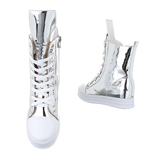 Ital Pantofole a Donna Argento Stivaletto Design UCfwqUa