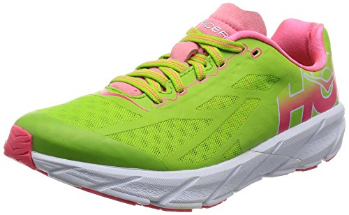 HOKA W Tracer Bright Green/Neon Pink 38