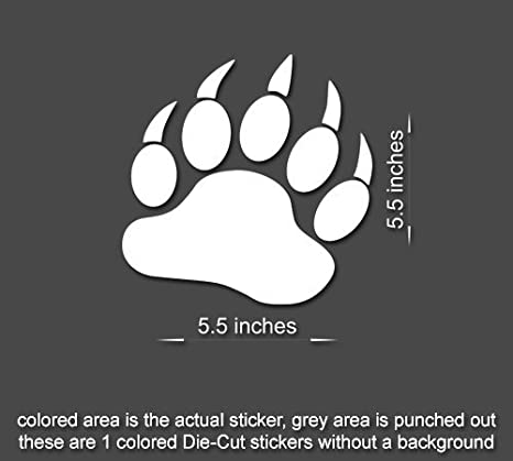 4 x Jeep Bear Claws Wrangler Decal stickers hood fender TJ JK CJ YJ rubicon