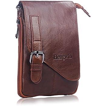 Amazon.com: Cell phone Crossbody Purse Premium Leather Men