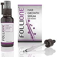 Follione Hair Growth Serum for Women - one month supply. Hair Loss Treatment for Women for Easy Hair Growth.