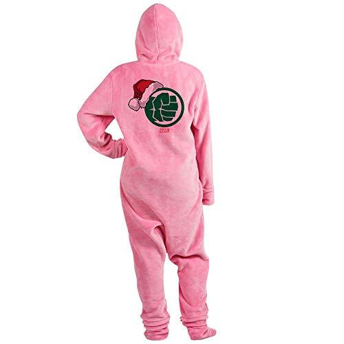 CafePress Hulk Santa Novelty Footed Pajamas, Funny Adult One-Piece PJ Sleepwear Pink -