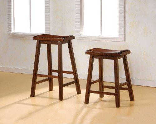 24 Inch Bar Stool  in Dark Walnut by Coaster Furniture