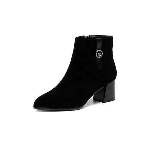 CBDGD Zapatos de Mujer, otoño e Invierno, Botas Negras con ...