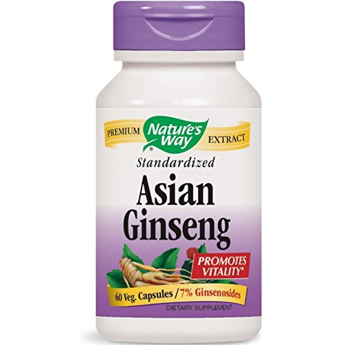 Nature's Way Standardized Asian Ginseng 60 ea ( Pack of ()