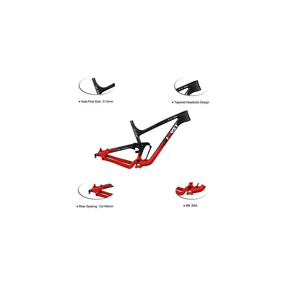 IMUST 27.5+/29er Carbon Full Suspension Trail/Enduro Frame BSA Bottom Bracket