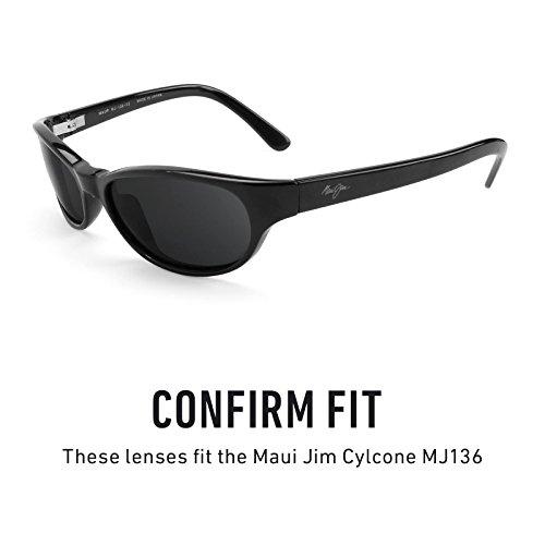 Verres de rechange pour Maui Jim Cylcone MJ136 — Plusieurs options Polarisés Elite Titanium MirrorShield®