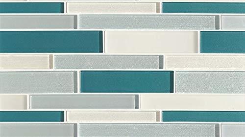- 8-7/8 x 16 Verve Wall Mosaic in Calypso, 1 SqFt