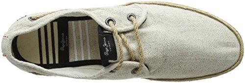 Pepe Jeans London Herren Sailor Deck Linen Espadrilles Beige (Ecru)