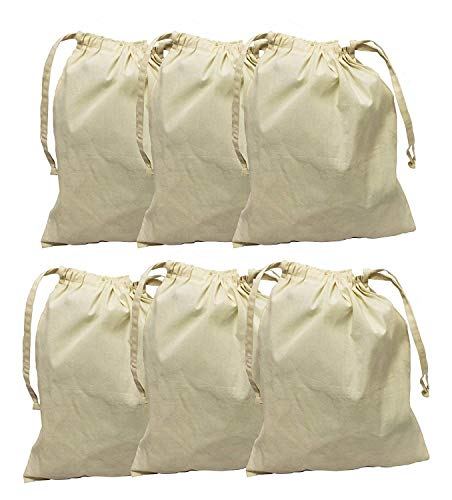 Sacks Food - Earthwise Cotton Muslin Produce Bags with Drawstring for Grocery Shopping and Storing, Bulk Foods, Nuts, Grains, Spices Storage & Organizing 11.5