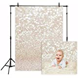 Funnytree 5X7ft Vinyl Bokeh Golden Spots Photography Backdrop Shinning Sparkle Sand Scale Background Christmas Professional Newborn Baby Chirldren Portrait Photo Studio Photobooth Props