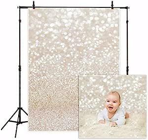 980 7 ft x 5ft Blue And White Bokeh Background  Vinyl Backdrop  Custom Photo Prop