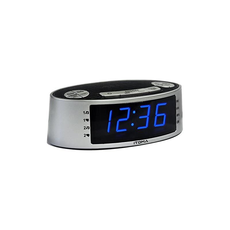 iTOMA Alarm Clock Radio, Digital AM FM,