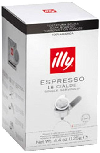 Dark Roast Coffee Pods for E.S.E Espresso Machines 4.4 oz 18 cialde