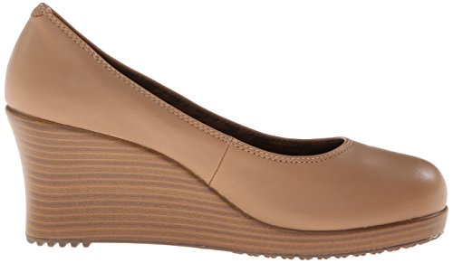 Buff Toe Compensées Sandales Closed Wedge A Walnut Femme Leigh Crocs qf4Yw8tn