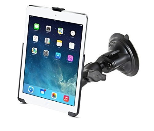 (Short Arm Suction Cup Windshield Mount Holder Kit fits Apple iPad 5 Apple iPad Air 1 & 2 & Pro 9.7