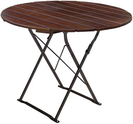 Mesa de jardín redonda de 90 cm de diámetro, EuroLiving Edition de ...