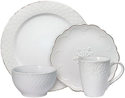 Pfaltzgraff French Lace White Dinnerware Set 32 Piece