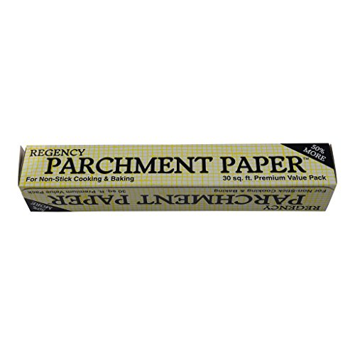 Regency Parchment Paper Non Stick Cake Pan and Cookie Sheet Liner for Cooking and Baking, 30 ft Roll