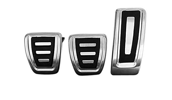 Emblema Trading Emblema Juego de pedales Acero Inoxidable A4 B8 S4, A5, S5 Q5 SQ5 schaltung Pedal tapas LHD: Amazon.es: Coche y moto