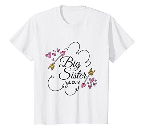 Kids Big Sister Est. 2018 Hearts and - Girl Est