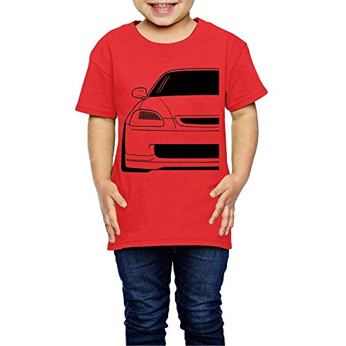 Yishuo Boys' 6th Gen Mugs Classic Jogging Tee Short Sleeve Red 4 Toddler