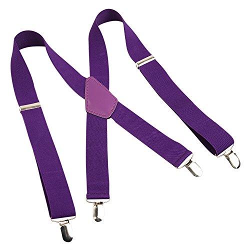 Largeur violet 4 bretelle Foncé x 5cm homme 3 style De Alizeal Clips Avec Cpgq6wXCxn