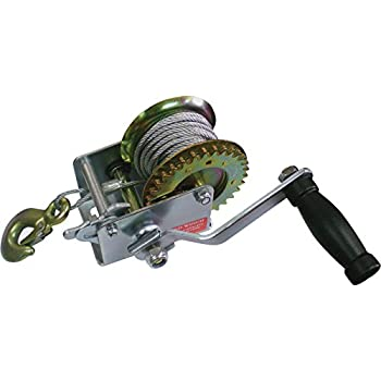 Ultra-Tow Trailer Winch - 600-Lb. Capacity, Model# 400063 with Cable