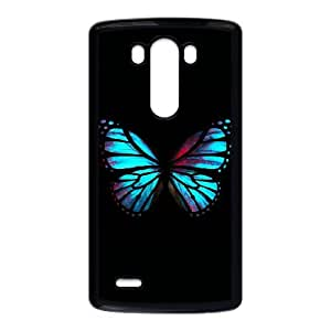 LG G3 Cell Phone Case Black Blue Red Butterfly Dxyl