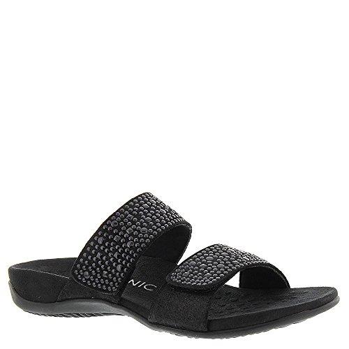 Vionic Women's Samoa Slide Sandal Black 9 W
