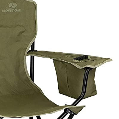 Mossy Oak Heavy Duty Folding Camping Chairs, Lawn Chair, One Size, Bark: Sports & Outdoors